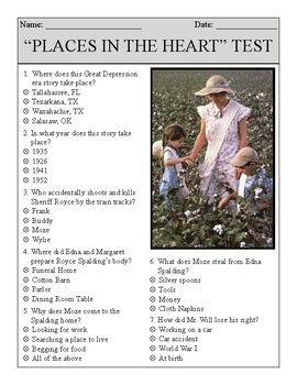 Places in the Heart Test