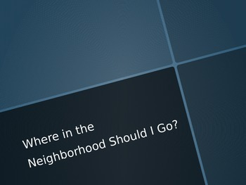Places in the Neighborhood PowerPoint
