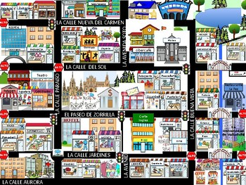 Places in the city picture dictionary