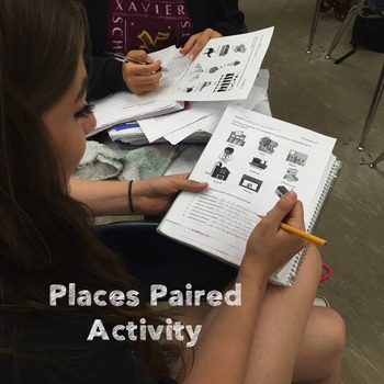 Spanish Places Los lugares PowerPoint & Curriculum