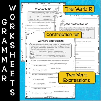 Spanish Verb IR and Places to Go:            7 Printables & 32 Conv. Cards