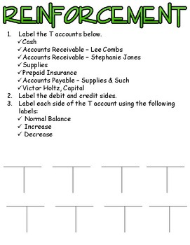 Placing Accounting Transactions Into Debit & Credit Parts