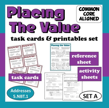 Placing the Value - task cards + printables set –Common C