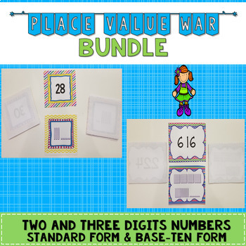 Place Value War Bundle