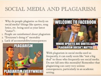 Plagiarism / Cheating Presentation