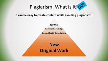 Plagiarism: A Lesson: What is it? How do you avoid it? Why does it matter?