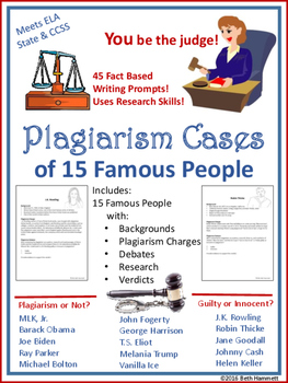 Plagiarism Cases of Famous People