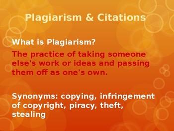 Plagiarism & Citations