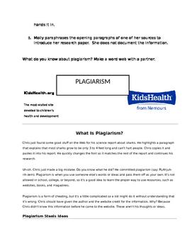 Plagiarism Lesson Plan