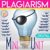 Avoiding Plagiarism Unit: Engaging Plagiarism Lessons