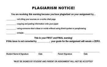 Plagiarism Notice