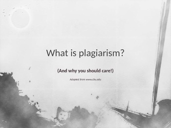 Plagiarism: The Deadly Sin of Writing