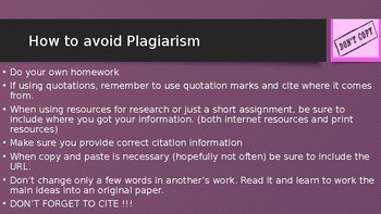 Plagiarism To Steal or Not to Steal