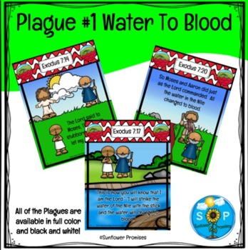 Plague #1 Water Turns to Blood Scripture Cards