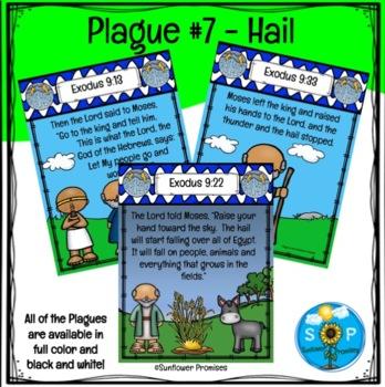 Plague # 7 Hail Scripture Cards
