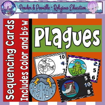 Plague Sequencing Cards ~ Moses and The Ten Plagues of Egypt Sequence Cards