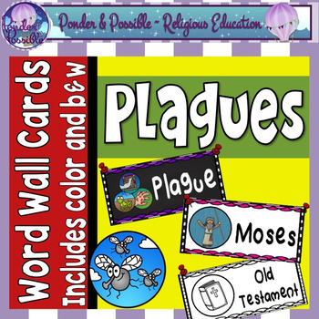 Plague Word Wall ~ Moses and The Ten Plagues of Egypt Word Wall
