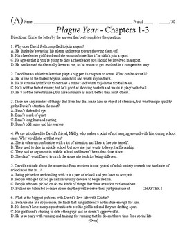 Plague Year Novel Tests and Literary Terminology Tests