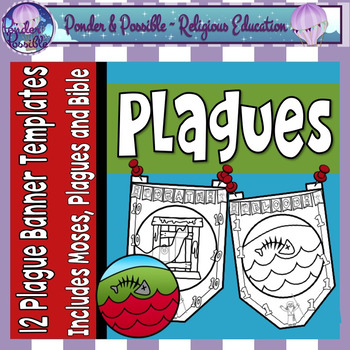 Plague Banners ~ Moses and The Ten Plagues of Egypt Banners