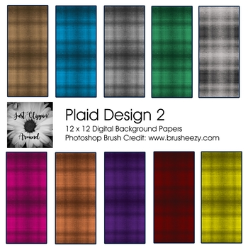 Plaid 2 Digital Backgrounds
