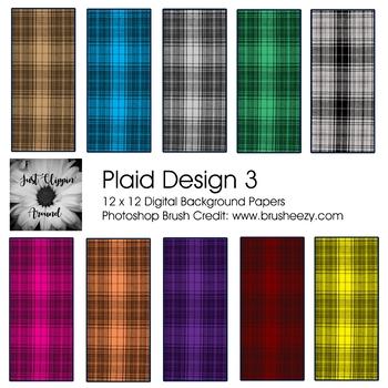 Plaid 3 Digital Backgrounds