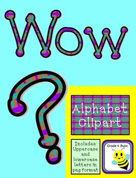 Plaid Alphabet Clip Art