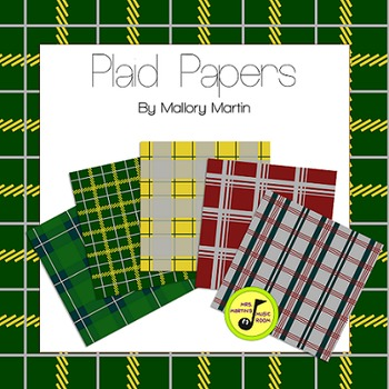 Plaid Background Digital Papers (Fall/Winter 2015-2016) FREE