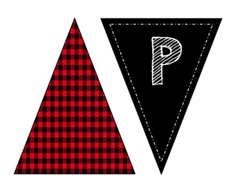 Plaid Chalkboard Birthday Banner