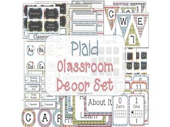 Classroom Decor Plaid