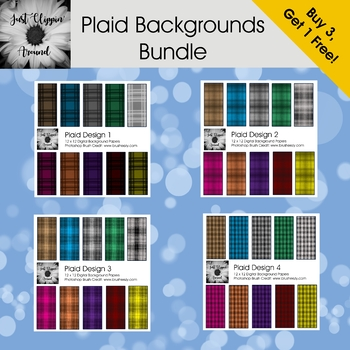 Plaid Digital Background Bundle