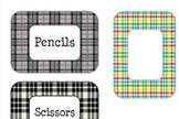Plaid Labels for the Classroom