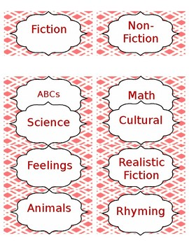 Plaid Library Labels