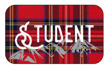 Plaid Mountain Student Tags