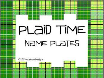 Plaid Name Plates