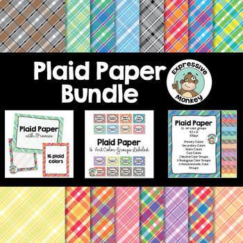 Plaid Paper Bundle