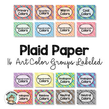 Plaid Paper with Color Groups