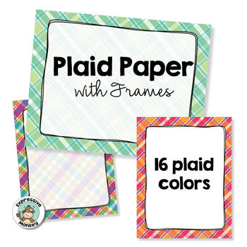 Plaid Paper with Frames