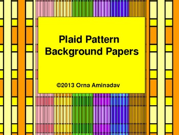 Plaid Pattern Background Papers