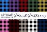 Plaid Pattern Digital Paper, Tartan, Lumberjack, Checkered