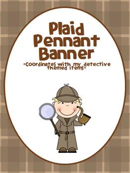 Plaid Pennant Banner - Detective
