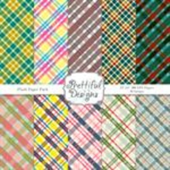 Plaid Set 1 Digital Paper Pack