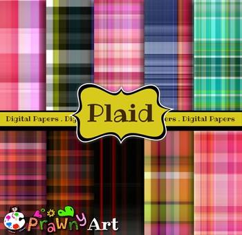Plaid Tartan Digital Paper Patterns