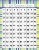 Plaid and Animal print 1-100 Number Chart {Set of 12}
