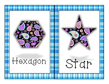 Plaid and Paisley Shape Signs