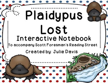 Plaidypus Lost Interactive Notebook Journal