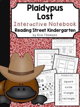 Plaidypus Lost Interactive Notebook ~ Reading Street Kindergarten