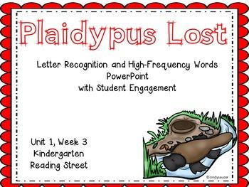 Plaidypus Lost, Kindergarten, Reading Street, PowerPoint, Unit 1, Week 3