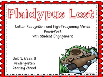 Plaidypus Lost, PowerPoint with Student Engagement, Kindergarten