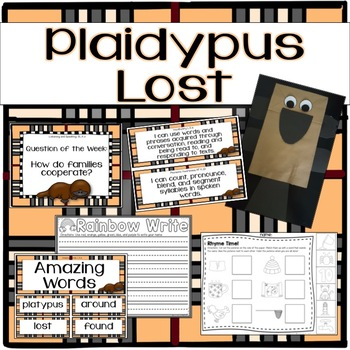 Plaidypus Lost Kindergarten Unit 1 Week 3