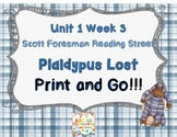 Plaidypus Lost- Print and Go Reading Street Unit 1 Week 3